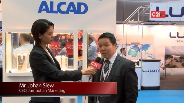 The Chief Executive Officer Of Jumbohan Marketing, Mr Johan Siew Shares With C21 TV On Their Featured Product And Their Objective Of Participating M&E 2014